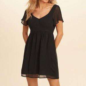 Hollister Chiffon Black Mini Dress